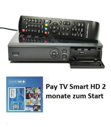 Golden Media WIZARD HD770 mit Pay TV Smart HD 2 Monate